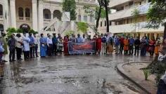 সাম্প্রদায়িক হামলার প্রতিবাদে জগন্নাথে মানববন্ধন